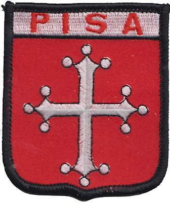 Italy Pisa Flag Shield Embroidered Patch Badge