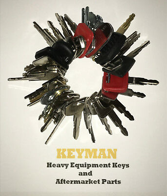 NEW! 39 Heavy Equipment Keys Set Construction Ignition Key Set ALL NEW KEYS!