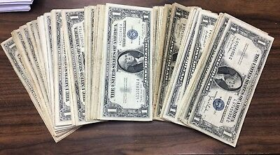 Lot Of 107 1935 & 1957 US $1 Silver Certificates Nice Selection