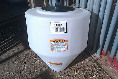 "15 gallon cone bottom tank only 19"" X 23""  NO STAND"