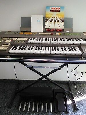 ELKA X-30 portable Heimorgel (Orgel-Keyboard) + Bassped. + Schwellped. RARITÄT!