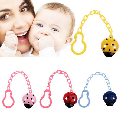 Dummy Clips Cartoon Holder Soother Pacifier Chain Boys Girls Baby Strap