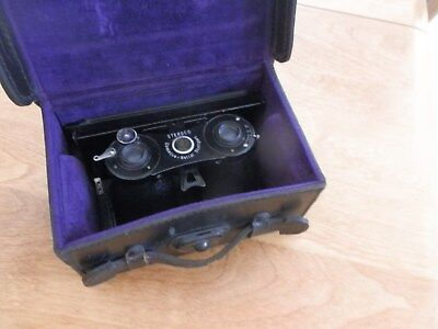Contessa Nettel Stuttgart Stereo Camera W/extras And Leather Case Ex Clean