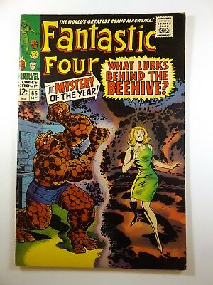 """Fantastic Four #66 """"What Lurks Behind the Beehive!"""" Warlock!! Stunning Fine!!!"""
