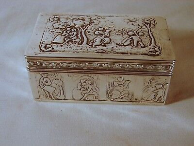Old Dutch Silver Cigarette Trinket Box Case, Hand Made, Excellent Condition