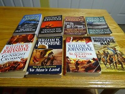 LOT of 8 MACCALLISTER WESTERNS by WILLIAM W. JOHNSTONE Soft Cover
