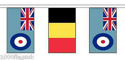 Belgium & Royal Air Force RAF Polyester Flag Bunting - 10m with 28 Flags