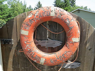 30 inch UGLY LIFE PRESERVER RING SAVER FLOAT BUOY BOUY (LR694)