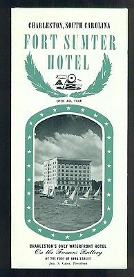 1950s Fort Sumter Hotel Charleston South Carolina Brochure Waterfront Hotel