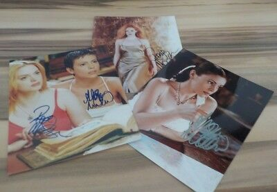 3 Schöne Autogramme  Charmed - Alyssa Milano Rose Mcgowan  Holly M. Combs  13)