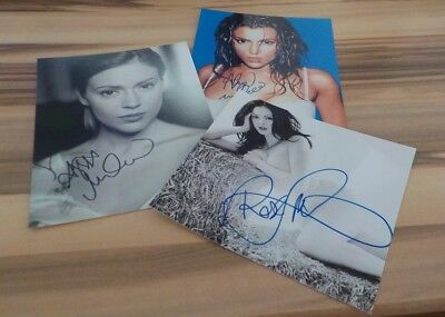 3 Schöne Autogramme  Charmed - Alyssa Milano Rose Mcgowan  Holly M. Combs  14)