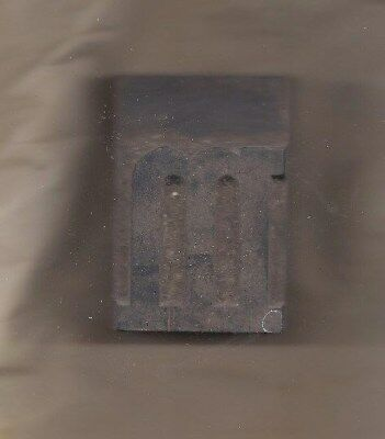 "Antique Printers Block:wood, British, letter ""m"" 2 1/4 inches tall"