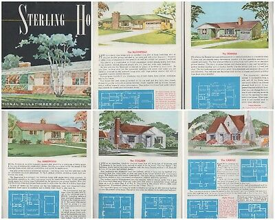 Sterling Homes 1950S Mid Century Modern House Plans Atomic Ranch Cape Cod Coloni