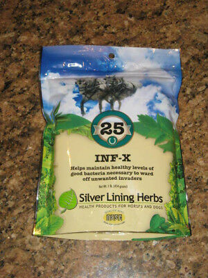 SILVER LINING HERBS #25 INF-X maintain bacteria levels  Equine 1 Pound
