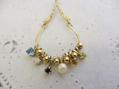 2.6 grams 10KT  GOLD JEWELRY SCRAP OR WEAR Charm Necklace Pendant with Charms