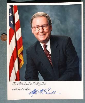 Kentucky Senator Mitch McConnell signed photo to Indianapolis City Councilman!