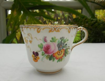 Antique Minton Hand Painted Floral Cup c1855-65