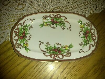 "Tiffany & Co.Serving Platter Holiday Pattern - Made in Japan, 12"" NEW w/o BOX"