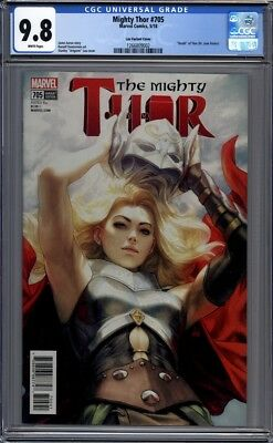 Mighty Thor #705  Stanley Artgerm Lau Variant Jane Foster 1st Print  CGC 9.8