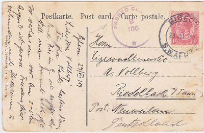 South W.africa Uk Gb 1919 Revised German Pict.pc Gibeon To Germany