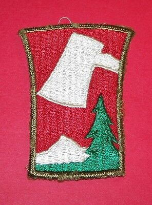ORIGINAL CUT-EDGE WW2 70th INFANTRY DIVISION RIBBED WEAVE OD BORDER PATCH