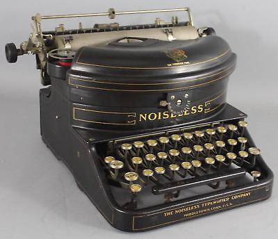 1918 Antique Early 20thC Number 4 The Noiseless Typewriter Co. Original Paint