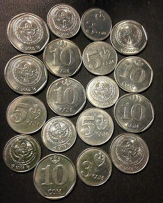 Old Kyrgyzstan Coin Lot - 18 Super Uncommon Hard to Find Coins - Lot #521
