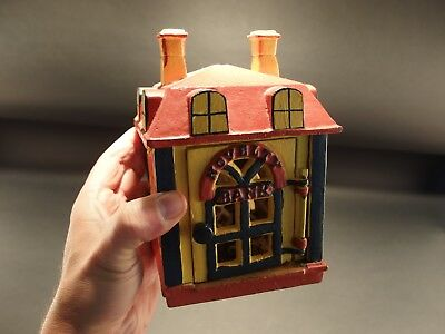 """Antique Vintage Style Cast Iron """"Novelty Bank"""" Coin Bank"""