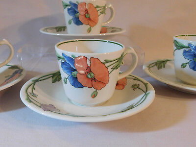 4 sets Villeroy & Boch Germany Amapola Tea Coffee Cups and Saucers  (More avail.