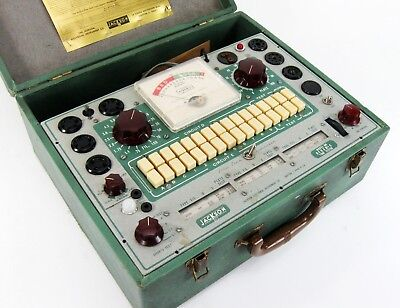 JACKSON 648 VACUUM TUBE TESTER w MANUAL CHARTS ADAPTERS SERVICED * NICE!