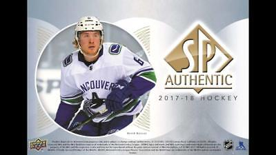 2017-18 SP Authentic UD Hockey Cards Pick From List (Base, Future Watch Moments)