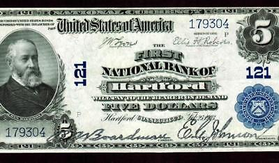 $5 1902 :: Hartford Connecticut :: National Currency ** More Currency For Sale