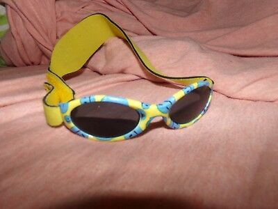 Infant Sunglasses With Head Strap    Used     Blue/yellow