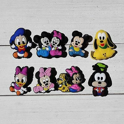 24pcs Lot Mickey Minnie PVC Shoes Charms fit for Croc & Jibbitz Wristbands Gift