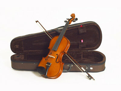 Violin Student 1/4 Stentor Standard Set With Brown Lightweight Case And Bow