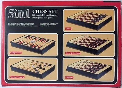 5 in 1 Chess Set Multiple Board Games Intelligence test game! Chess Backgammon