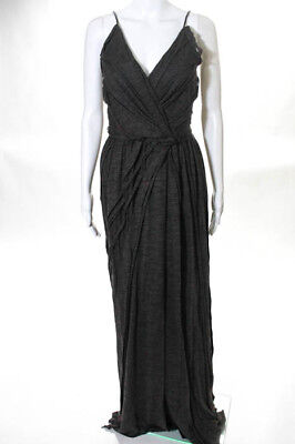 Marc Jacobs Gray Spaghetti Strap V-Neck Pleated Gown Size 4 New $2500
