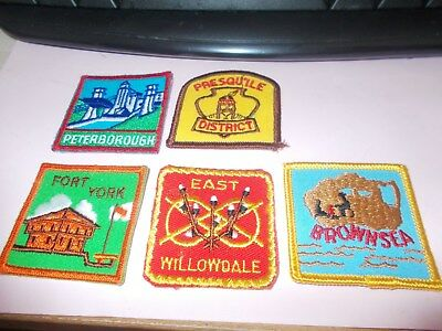 Five Listed Ontario Scout Badges  Unused  Scouts Canada Badges