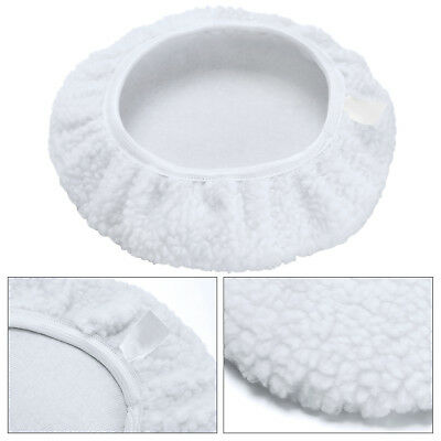 "4x 9"" Car Polisher Pad Soft Microfiber Polishing Bonnet Buffing Pad Cover White"