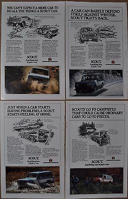 1979 International Harvester SCOUT advertisements x4, IH Scout II SSII Traveller