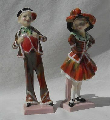 Vintage 1940s or 50s Royal Doulton Pearly Boy & Girl HR2036 & HR2035