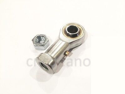 M10 10mm FEMALE RIGHT HAND THREAD ROSE JOINT TRACK ROD END COMES WITH LOCK NUT
