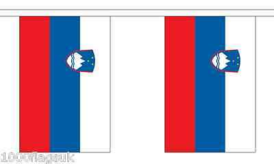 Slovenien Polyester Flagge Wimpel - 6m lang with 20 Flaggen