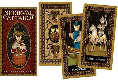 NEW! Medieval Cat Tarot Card Deck 78 CARDS ~ by Lawrence Teng Wicca Wiccan