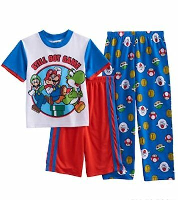 Super Mario Bros.Still Got Game 3-Piece Pajama Set, Size 8