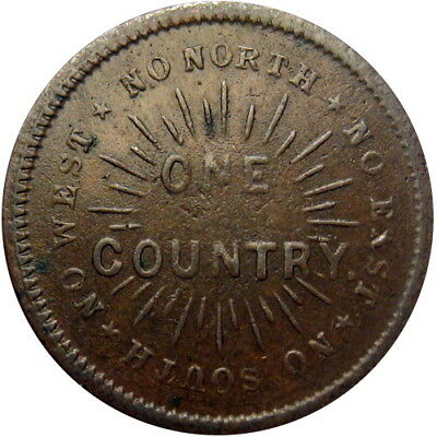 No North South East Or West One Country Flag Patriotic Civil War Token