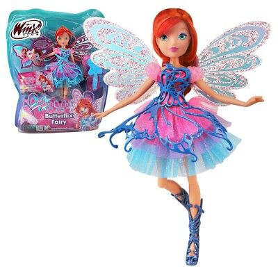 Bloom | Butterflix Fairy Puppe | Winx Club | Fee mit magischem Gewand | 28 cm