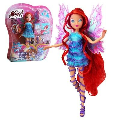 Bloom | Mythix Fairy Puppe | Winx Club | Fee mit Mythix Stab | 28 cm