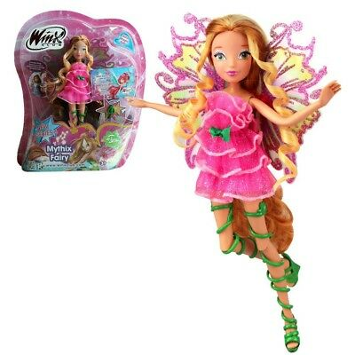 Flora | Mythix Fairy Puppe | Winx Club | Fee mit Mythix Stab | 28 cm