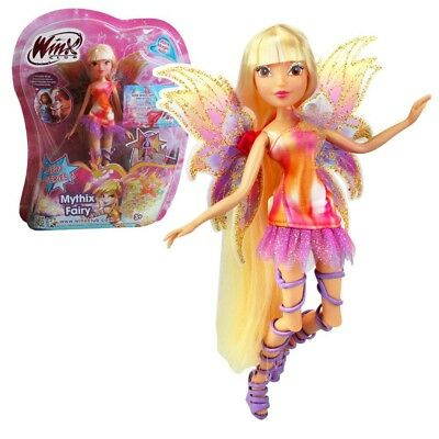 Stella | Mythix Fairy Puppe | Winx Club | Fee mit Mythix Stab | 28 cm